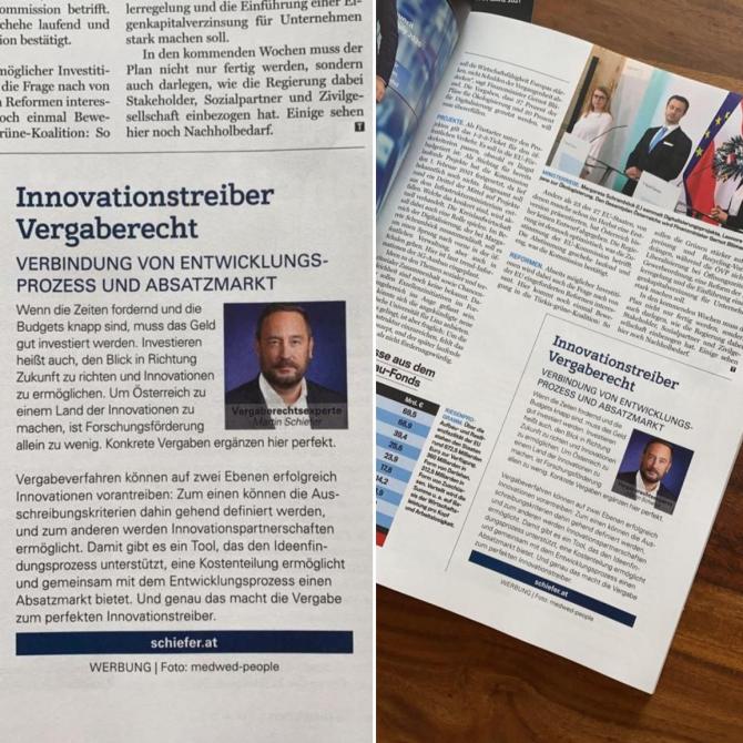 """Gastkommentar im Trend """"Innovationstreiber Vergaberecht"""""""