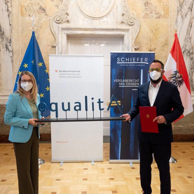 Schiefer Rechtsanwälte erhält equalitA Auszeichnung