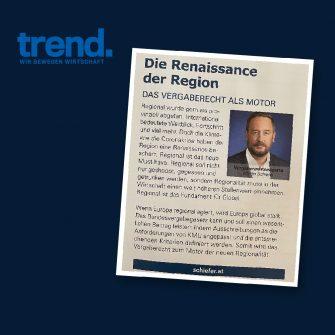 """Gastkommentar Trend """"Die Renaissance der Region"""""""