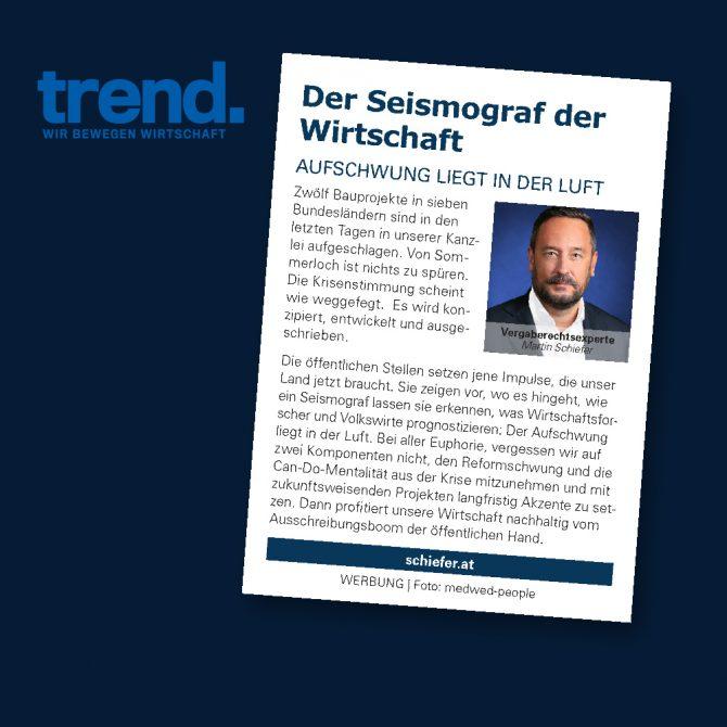 """Gastkommentar Trend """"Der Seismograf der Wirtschaft"""""""