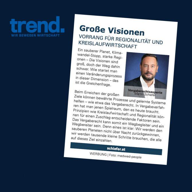 "Gastkommentar Trend ""Große Visionen"""