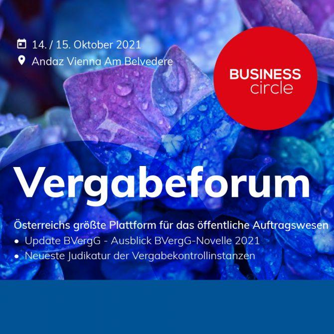 Business Circle Vergabeforum 2021